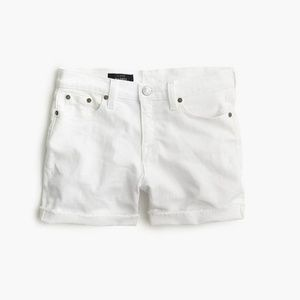 J. Crew Denim Short in White